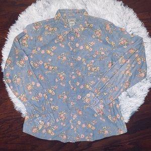 Vintage LL Bean Corduroy Long sleeve Button down